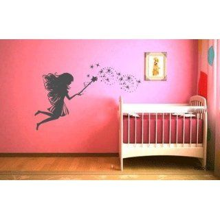 Whimsy Fairy with Magic Wand and Stars Vinyl Wall Decal