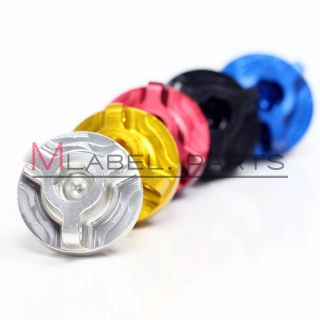 Blue Oil Filler Cap for Honda Bike Engine with Safety Wire Lock