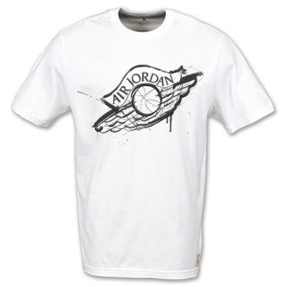 Jordan Dave White Wings Mens Crew Tee Shirt White