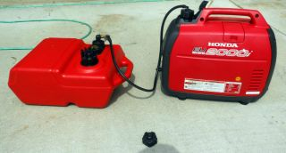 Honda EU2000i 2000 Watt Inverter Portable Generator PLUS 6 Gal fuel