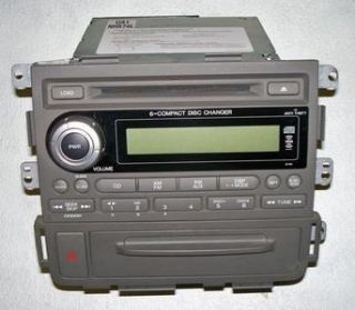 Honda Ridgeline Radio XM 6 Disc Changer CD