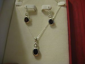 Garnet Set 925 Sterling Silver Earrings Pendant Coldwater Creek
