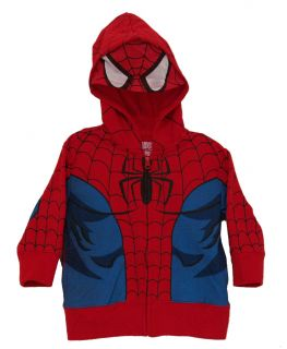 Amazing Spider Man Marvel Comics Costume Mask Toddler Zip Up Hoodie
