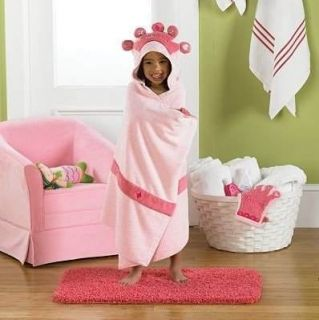 Beans Princess Bath Wrap Hooded Towel 27x54 New Adorable
