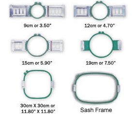 frames hoops included 2 x shirt front round hoop 9