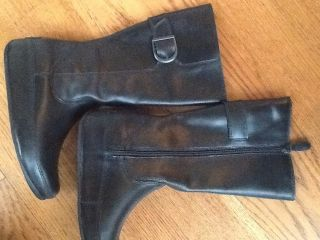 NWT Fitflop Hooper Boot Tall Black Leather 225 00 boots size US 7