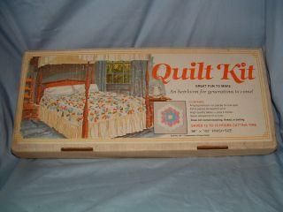 Vintage Grandmothers Flower Garden Quilt Kit