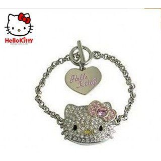 Hello Kitty Rhinestone Stainless Steel Bracelet