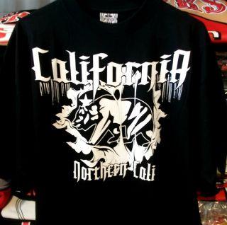 Black California Bear Flag T Shirt West Coast Cali Swag District So