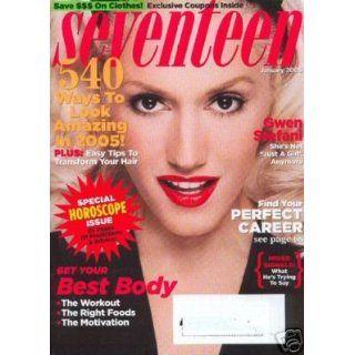 Seventeen Magazine, January 2005, Gwen Stefani Cover Atoosa