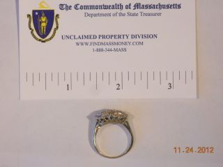 Ladys 14k White Gold Diamond Horizon Cluster Ring