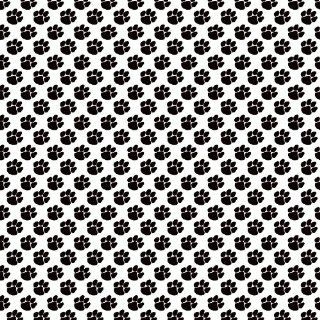 PAW PRINT WHITE & BLACK PATTERN Vinyl Decals 3 Sheets