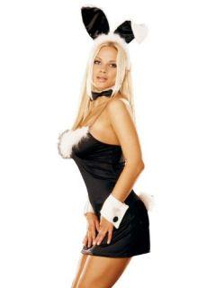 Sexy Plus Size Bunny Costume Black Mini Dress Tuxedo Bunny