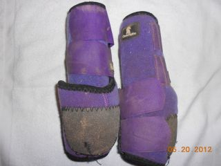 Equine Legacy Boots SMB Purple Barrel Racing Tack Horse Rodeo Roping