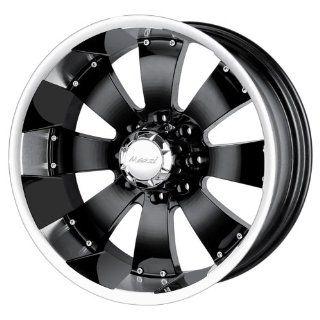 22 Inch 22x12 Mazzi wheels HULK 755 Black w/ Machined Lip wheels rims