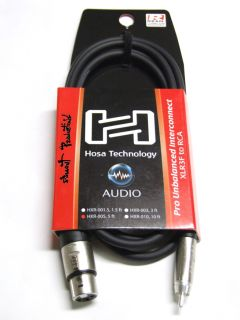Hosa HXR 005 Pro XLR Female to Male RCA Cable Cord 5ft
