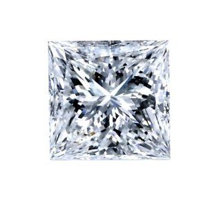 GIA Certified 0.77 Carat Princess Cut Diamond E Color Vvs2 Clarity