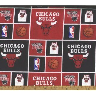 NBA Chicago Bulls Cotton Fabric By the Yard: Everything