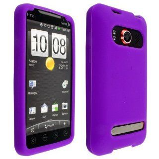 Purple High Quality Soft Silicone Case Cover For HTC EVO
