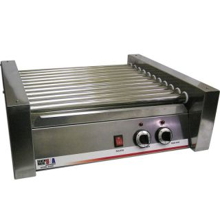 Commercial Hot Dog Roller Grill 30 Hotdog Cooker Stainless Steel