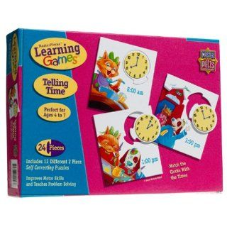 Telling Time Learning Game Jigsaw Puzzle 24pc Toys