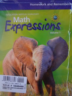 Math Expressions Homework and Remembering Grade 3 Consumable Set