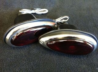 1939 Ford Style Hot Rod Tail Lights Tailights Pair Rat Rod