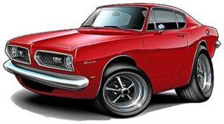 1967 69 Barracuda Muscle Car Cartoon Tshirt Free