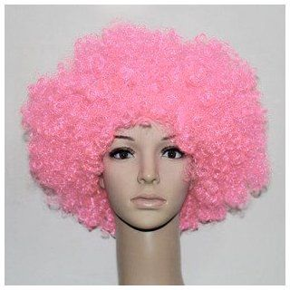 Pink Afro Wig   Halloween 1960s or 1970s Costume Party Wig