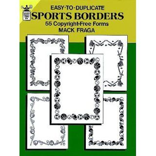 Easy to Duplicate Sports Borders 55 Copyright Free Forms (Clip Art