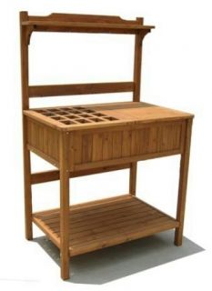 New Wooden Work Bench with Storage Garden Home Yards 24 x 37 x 60 Inch