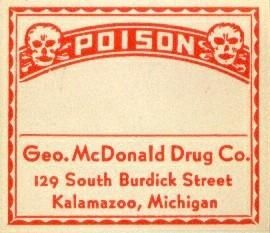 16 All Poison Drug Store RX Medicine Bottle Labels P3