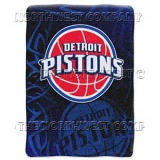 NBA 60 x 80 Super Plush Throw   Detroit Pistons: Sports