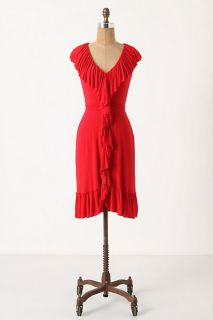 Anthropologie Hourglass Sand Dress by Bailey 44 Rayon Spandex Red s $