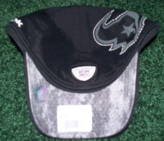 Houston Texans NFL Licensed Reebok Black Blackout Flex Fit Hat L XL