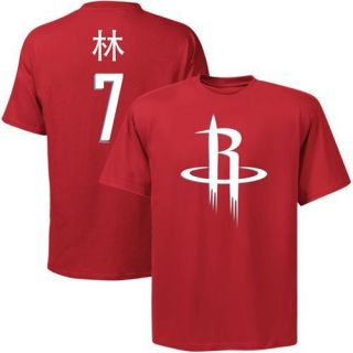 Majestic Jeremy Lin Houston Rockets Player Symbol T Shirt Red