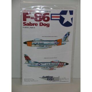 F 86 Fighter Jet Sabre Dog Part 4    Model Aircraft Decals