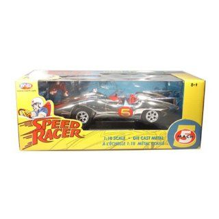 Speed Racer Mach 5 From Speed Racer 1/18 Chrome Chase Car