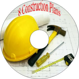 Construction Plans How To Build Shed Garage house Cabin CD
