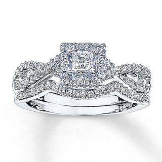 Kay Jewelers Diamond Bridal Set 5/8 ct tw Princess cut 14K White Gold