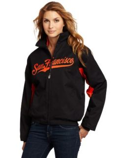 MLB San Francisco Giants Triple Peak Womens Jacket, Black
