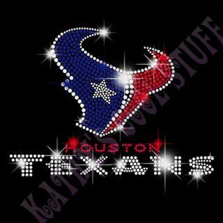 Houston Texans Rhinestone Hoody Sexy Bling Cute NFL Schaub Hoodie
