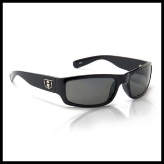 New Hoven Highway Sunglasses Black Gloss Shiny Frame Grey Polarized