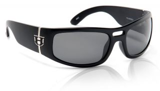 HOVEN RUNAWAY BLACK GLOSS GREY POLARIZED SUNGLASSES HOT ROD STREET