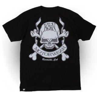 88 6065 XL Black X Large T Shirt with Skull and Bones Logo