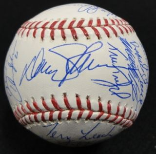 1986 New York Mets Team Signed Reunion Baseball Keith Hernandez Gooden