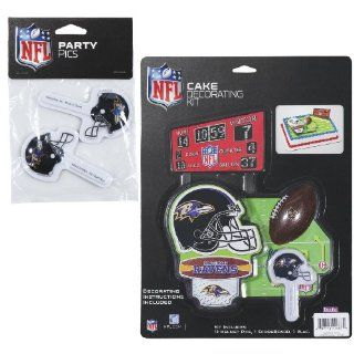 NFL Baltimore Ravens Lay on Cake/Cupcake Decorations