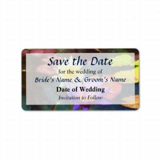 Lotus Pond Save the Date Custom Address Labels