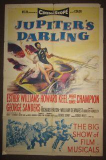 JUPITERS DARLING   USA Orig 27x41 1955   Esther Williams, Howard Keel