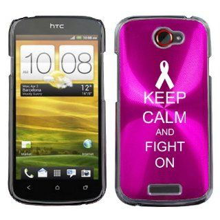 Hot Pink HTC One S 1S Aluminum Plated Hard Back Case Cover